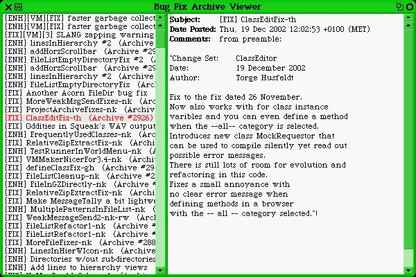 Uploaded Image: Bug Fix Archive Viewer - Show Fixes and Enhancements from 2002.jpeg